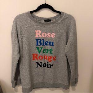 J. Crew Tops - J Crew French Colors Sweatshirt